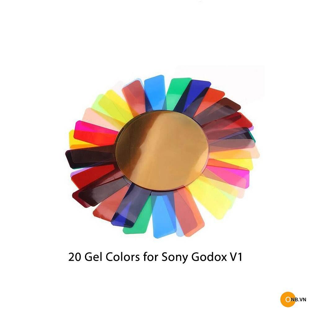 Bộ Gel 20 màu Flash Godox V1 tạo màu khi đánh đèn
