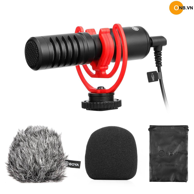 BOYA BY-MM1+ Mic thu âm cho máy ảnh, điện thoại, Gopro