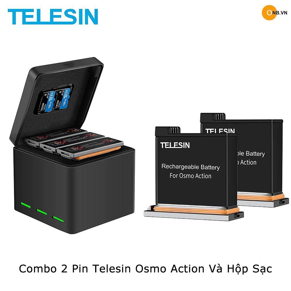 Combo 2 pin Telesin Osmo Action và hộp sạc