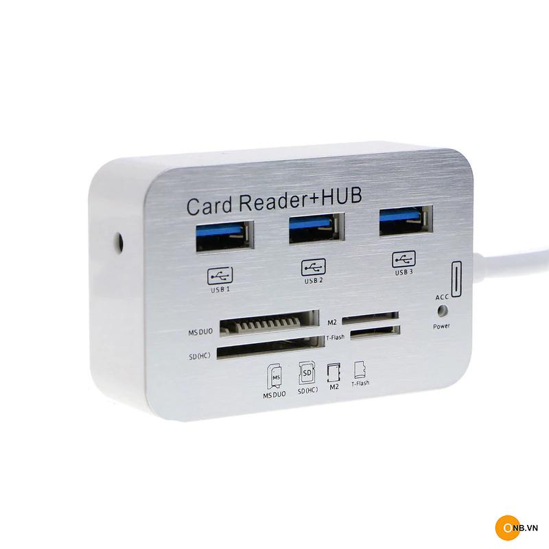 Đầu đọc thẻ nhớ SD USB 3.0 và HUB USB 3.1