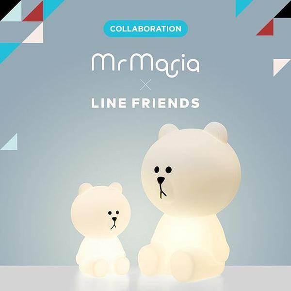 Đèn led phòng ngủ Mr Maria Line Friends Hug Me