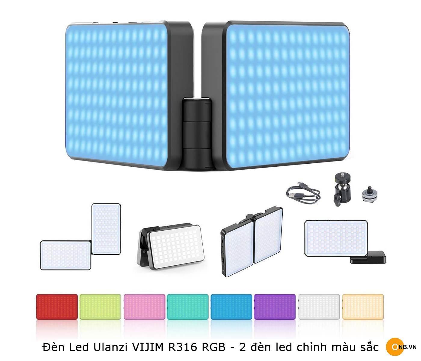 Đèn Led Ulanzi VIJIM R316 RGB - 2 đèn led chỉnh màu và độ K