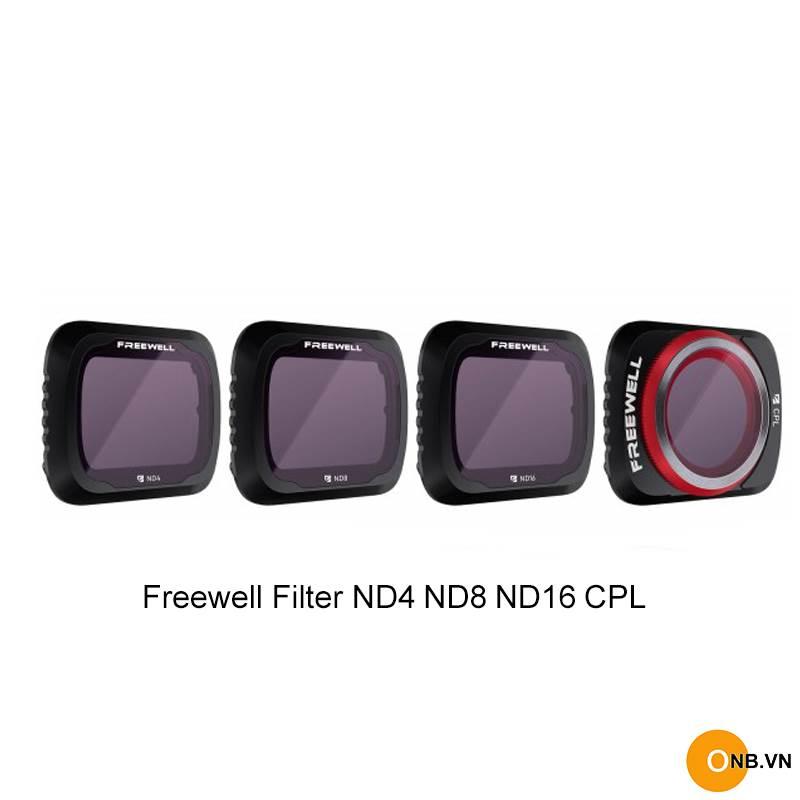Freewell Filter Mavic Air 2 set 4 cái CPL ND4 ND8 ND16