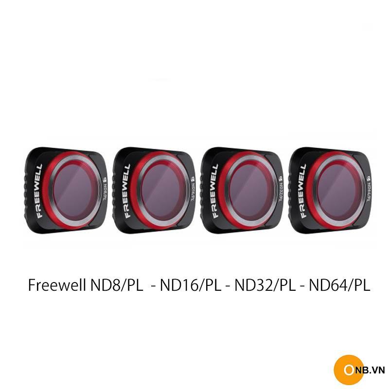 Freewell Filter Mavic Air 2 set 4 cái ND8/PL ND16/PL ND32/PL ND64/PL