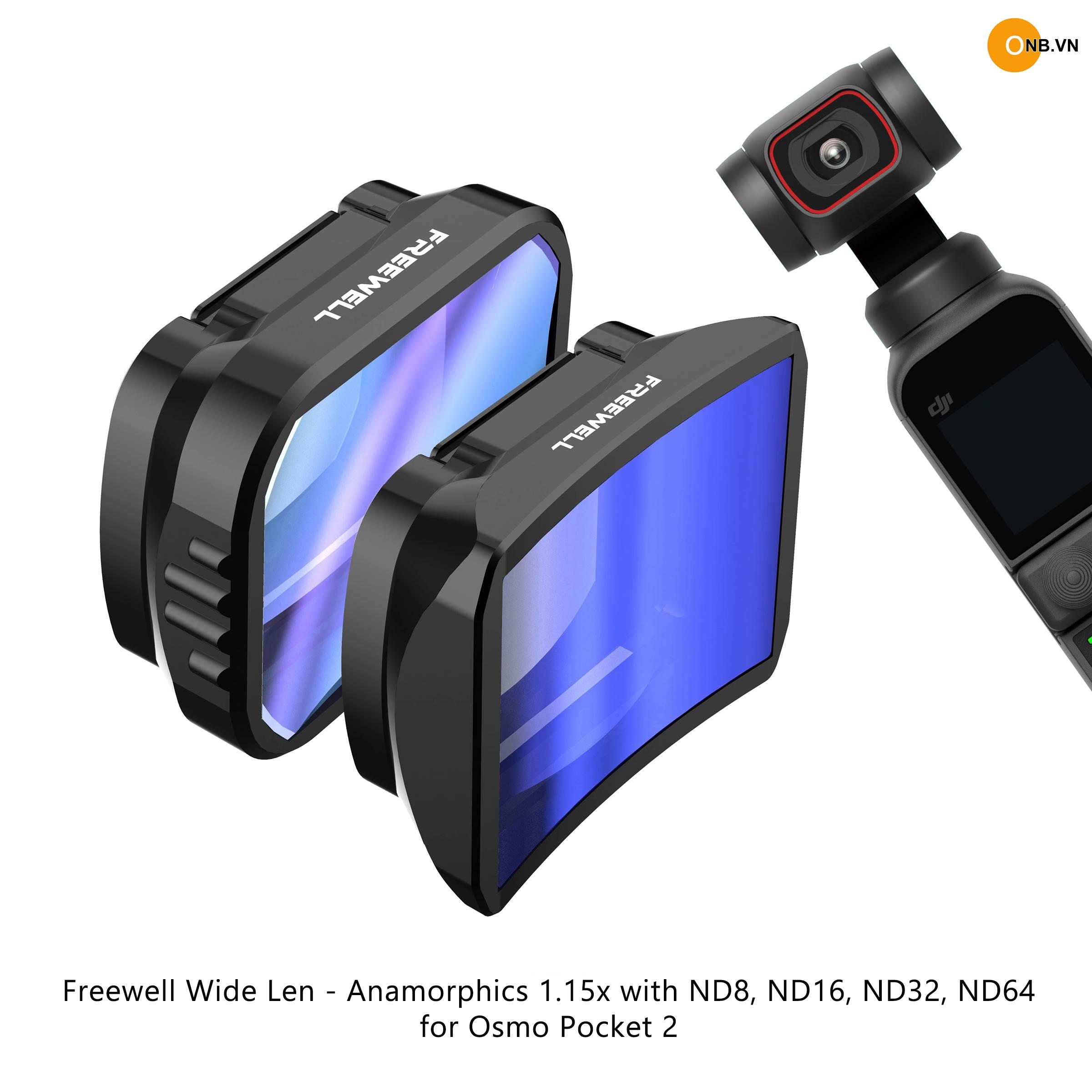 Osmo Pocket 2 Freewell Wide Len - Anamorphic 1.15x kèm ND 8/16/32/64