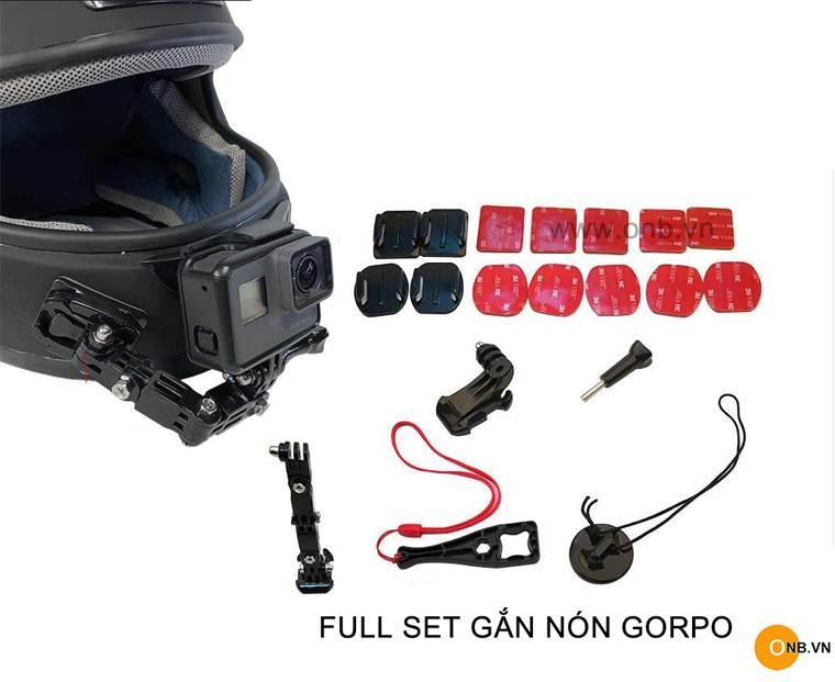Full set bộ gắn nón Fullface Gopro 8 7 6 5 Osmo Action