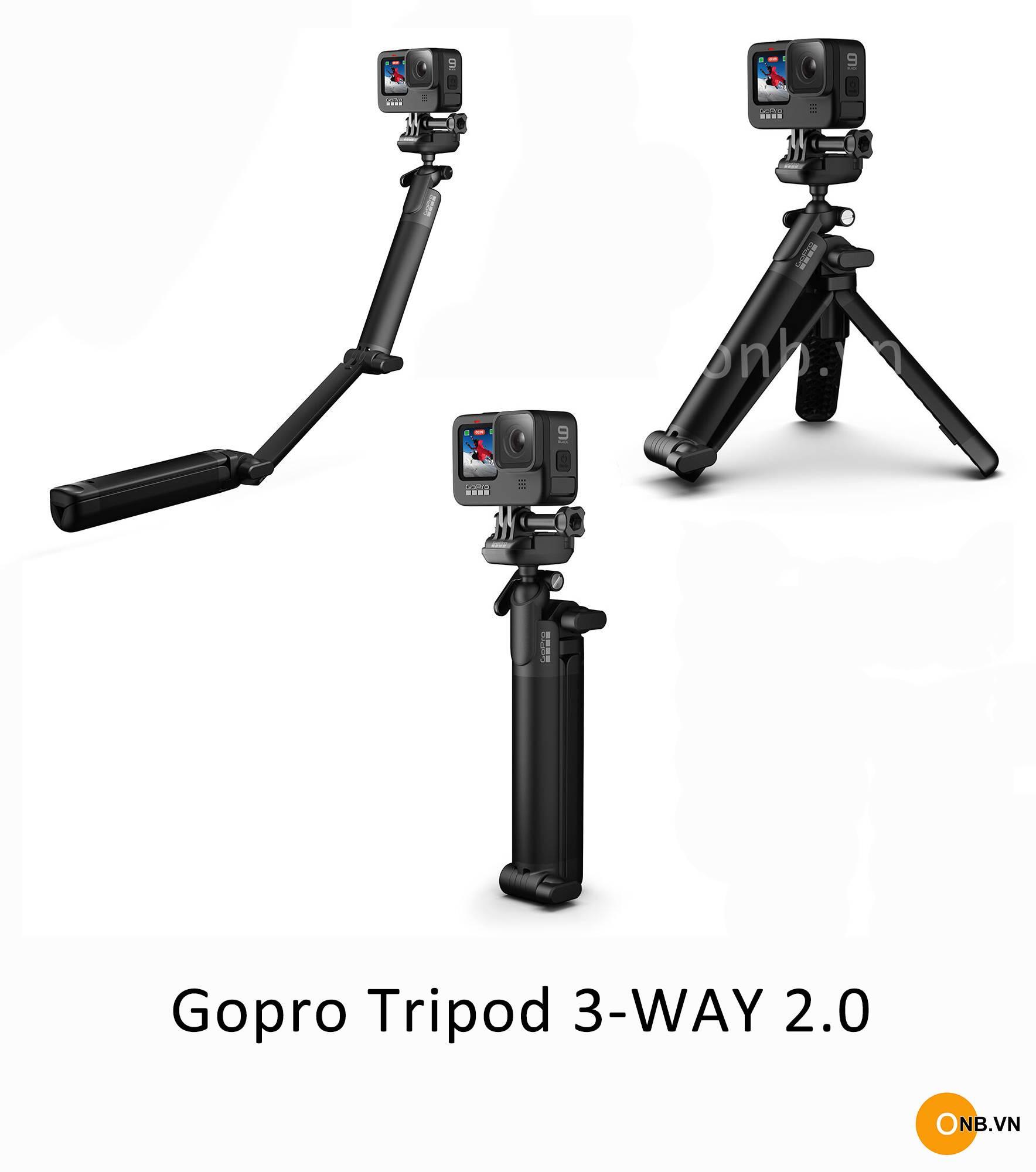 Gorpo 3-Way 2.0 - Tripod chính hãng Gopro mới 2021