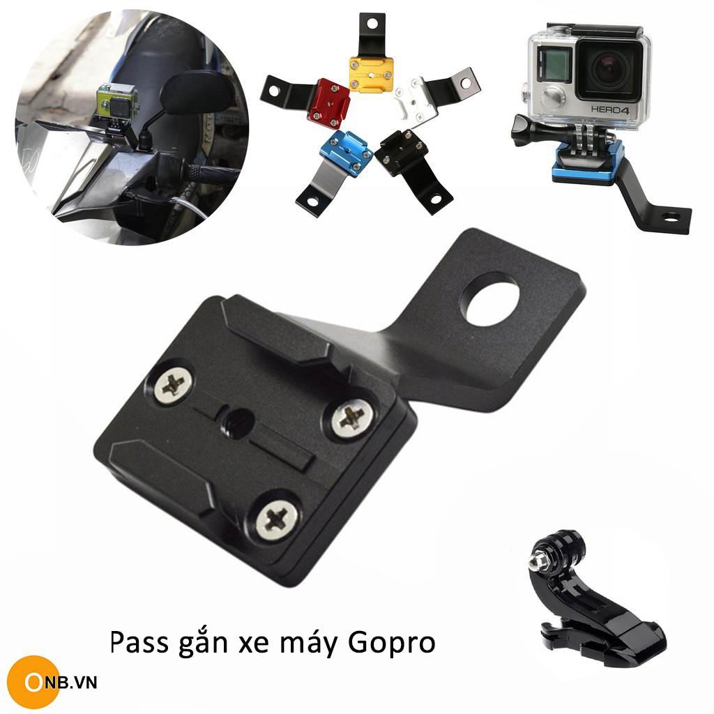 Pass gắn xe máy bằng thép cho Gopro, Osmo Action, Osmo Pocket
