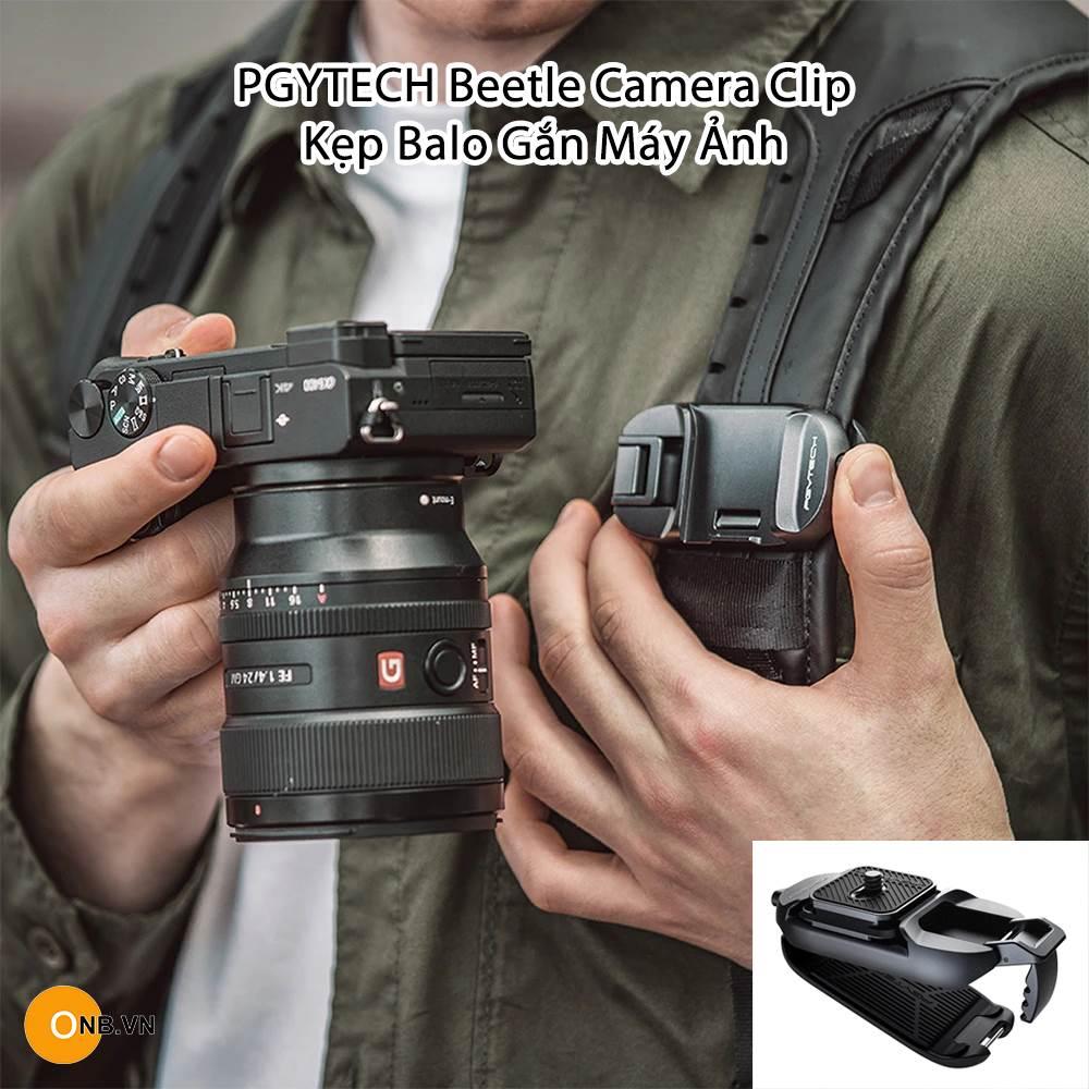 PGYTECH Beetle Camera Clip - Kẹp Balo Cho Máy Ảnh
