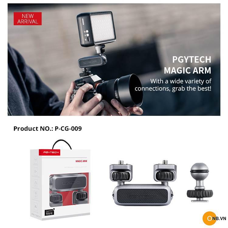 Pgytech Magic Arm - Tay nối dài 2 ball head ốc 1/4 đa năng
