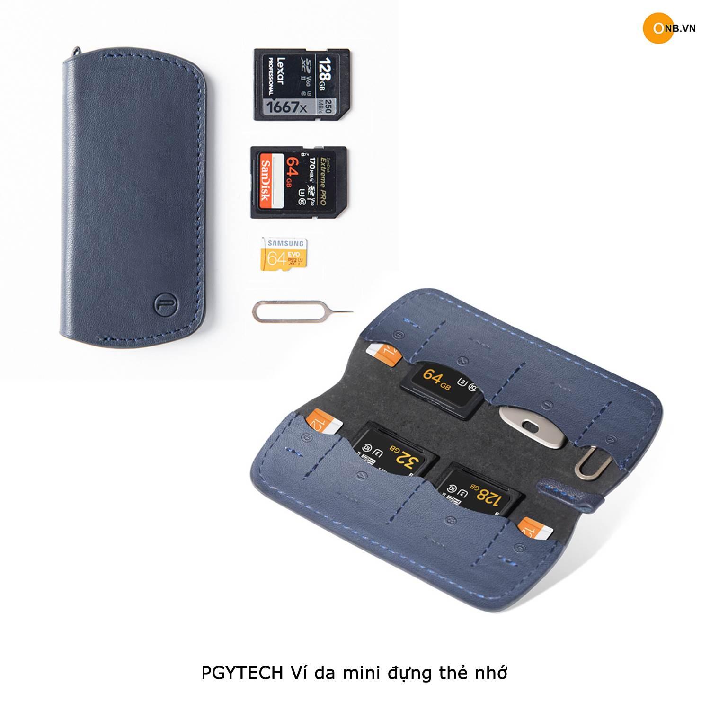 PGYTECH Ví Da Mini đựng thẻ nhớ SD, Micro SD, Sim