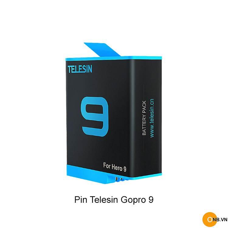 Pin Telesin Gopro 9 mẫu mới 1750mAh như pin Hãng