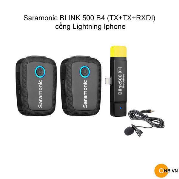 Saramonic BLINK 500 B4 (TX+TX+RXDI) cổng Lightning