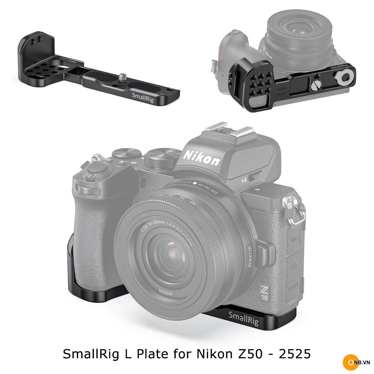 SmallRig L Plate Nikon Z50 Vlog 2525