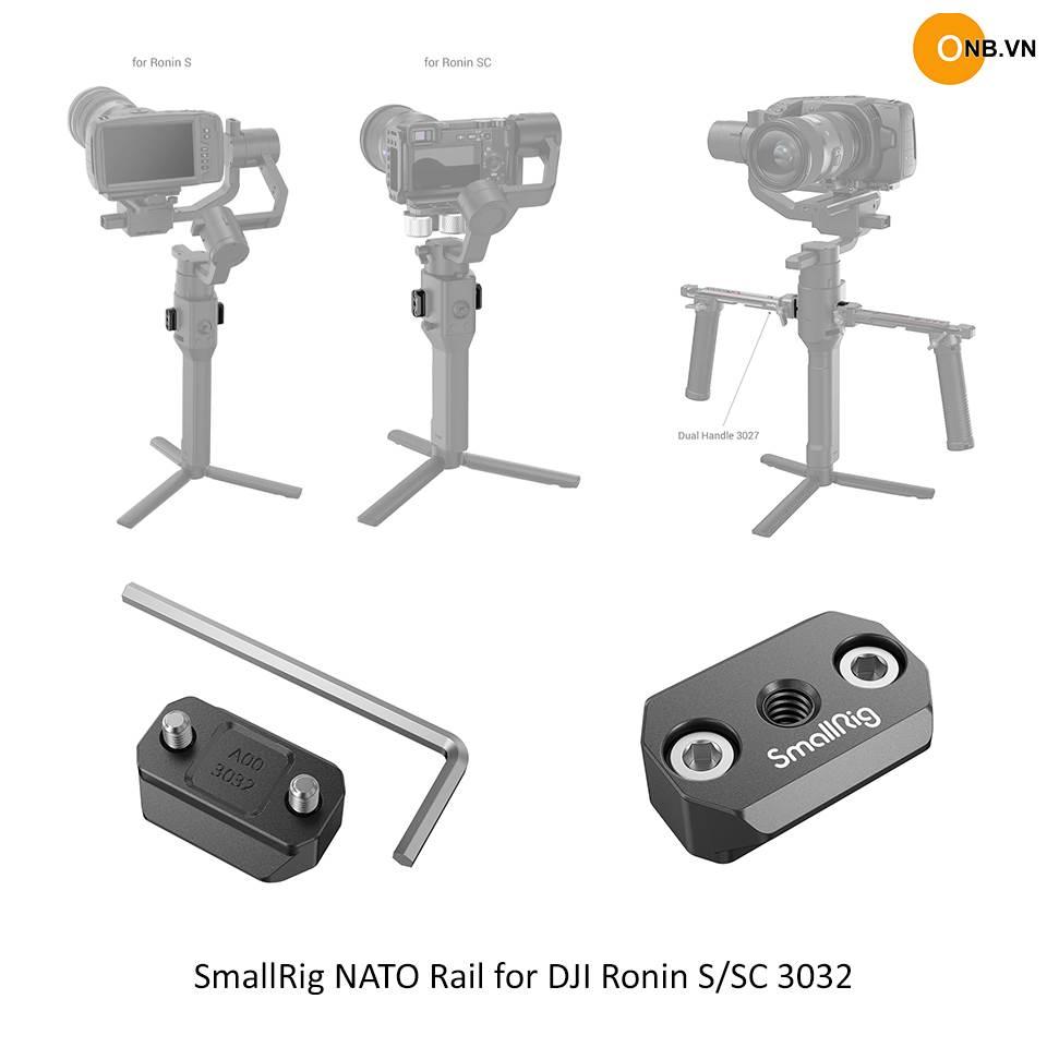 SmallRig NATO Rail for DJI Ronin S/SC 3032