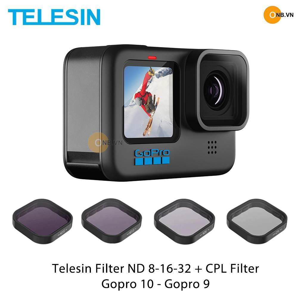 Telesin Gopro 10 Gopro 9 Filter ND 8 16 32 và CPL Filter