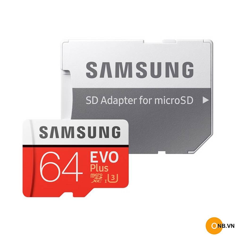 Thẻ Nhớ MicroSDXC Samsung EVO Plus U3 64GB 100MB/