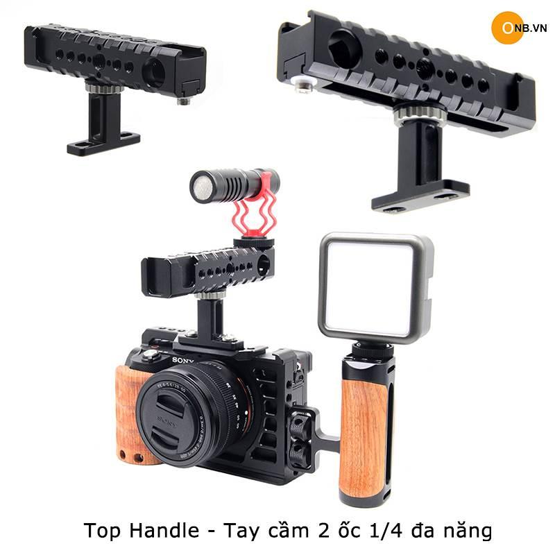 Top Handle - Tay cầm quay phim 2 ốc 1/4 cho khung Smallrig, Uuirg