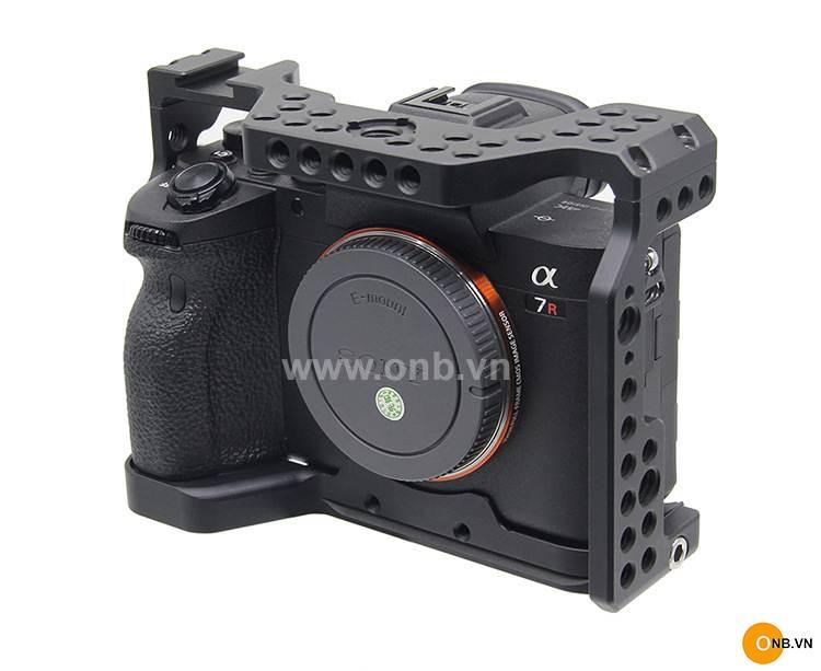 Cage Sony Alpha A7R4 - Khung rig bảo vệ máy quay phim VLOG