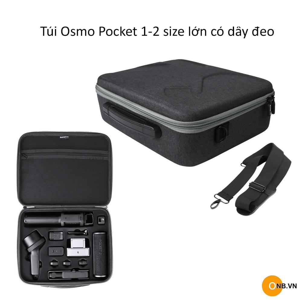 Túi Bảo Vệ DJI Osmo Pocket 2 và Pocket 1 Size Lớn Dây Đeo