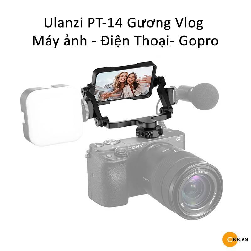 Ulanzi PT-14 Gương Vlog kim loại cho máy ảnh quay Vlog
