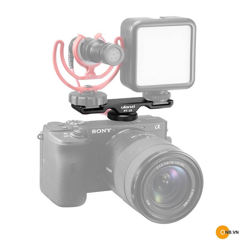 Ulanzi PT-2s Thanh mở rộng ra 2 cold shoes máy ảnh