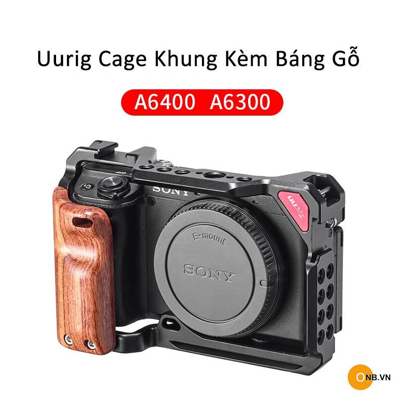 Uurig Cage Sony Alpha A6300 A6400 kèm báng gỗ new 2021