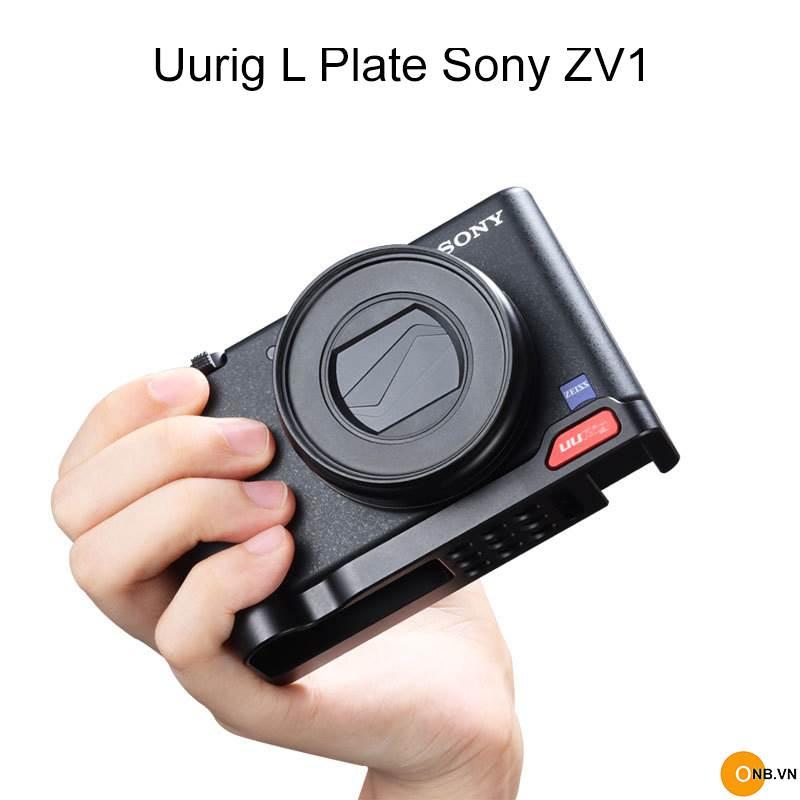 Uurig Plate Sony ZV1 - Đế kim loại bảo vệ và gắn máy dọc tripod
