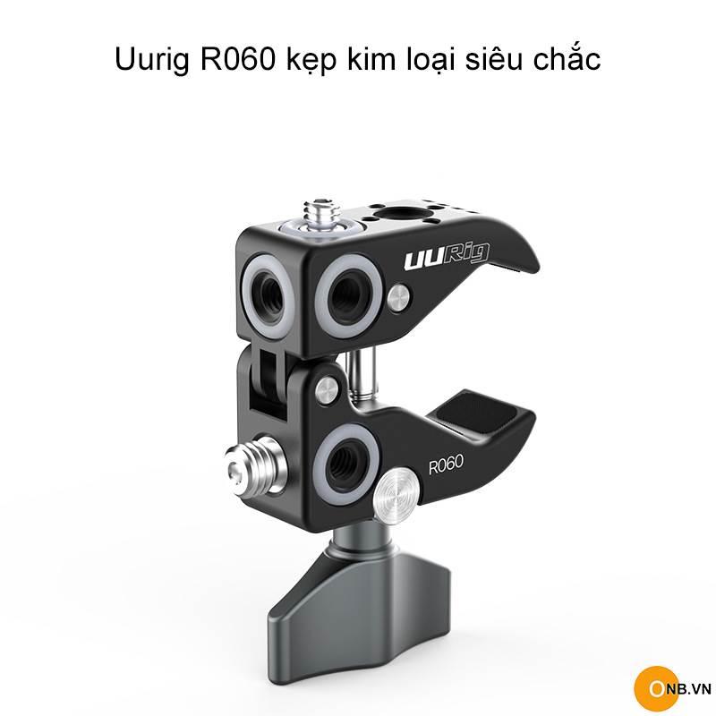 Uurig R060 Kẹp kim loại siêu chắc gắn phụ kiện quay phim