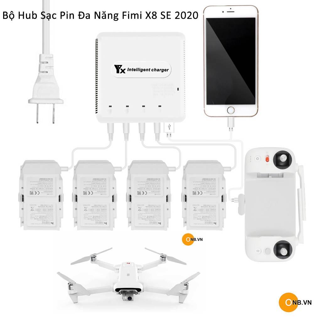 YX bộ hub sạc pin đa năng cho Fimi X8 SE 2020