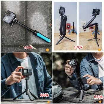 4 mẫu tripod mini siêu tốt cho Gopro, Osmo Action, Osmo Pocket