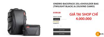 Nhận order đặt hàng BALO PGYTECH ONE MO Twilight Black màu đen