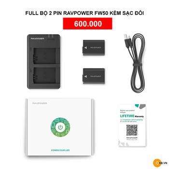 Bán Pin RavPower FW50, FZ100 chính hãng giá tột tại Việt Nam