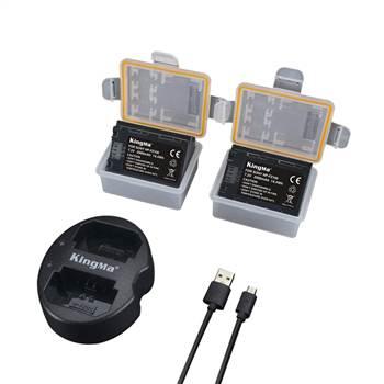Bộ 2 pin FZ100 Kingma kèm sạc USB cho Sony A7III A7RIII A9