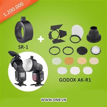 Bộ tản sáng Godox AK-R1 dành cho flash gồm những gì ?