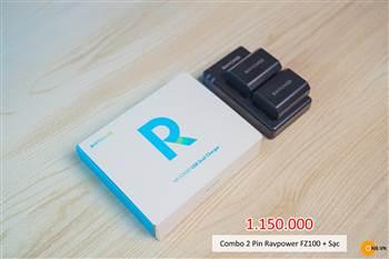 Combo 2 pin Ravpower FZ100 cho máy ảnh Sony Alpha A7III, A7R3, A7S3, A9