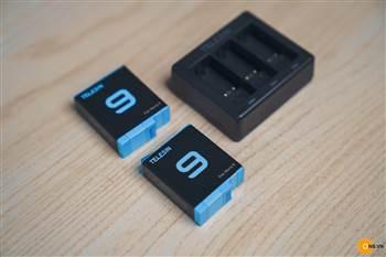 Combo 2 pin Telesin cho Gopro 9 kèm dock sạc 3 pin