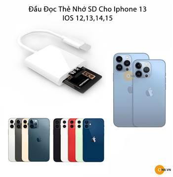 Đầu Đọc Thẻ Nhớ SD cho Iphone 13 và dòng Iphone khác