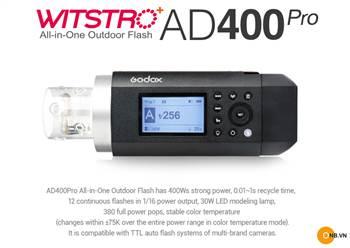 Đèn Flash Ngoài Trời Godox WITSRO AD400Pro Flash 2019