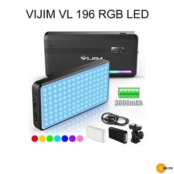 Đèn Led Mini VIJIM VL196 RGB chỉnh độ K 2500K 9000K kèm phụ kiện