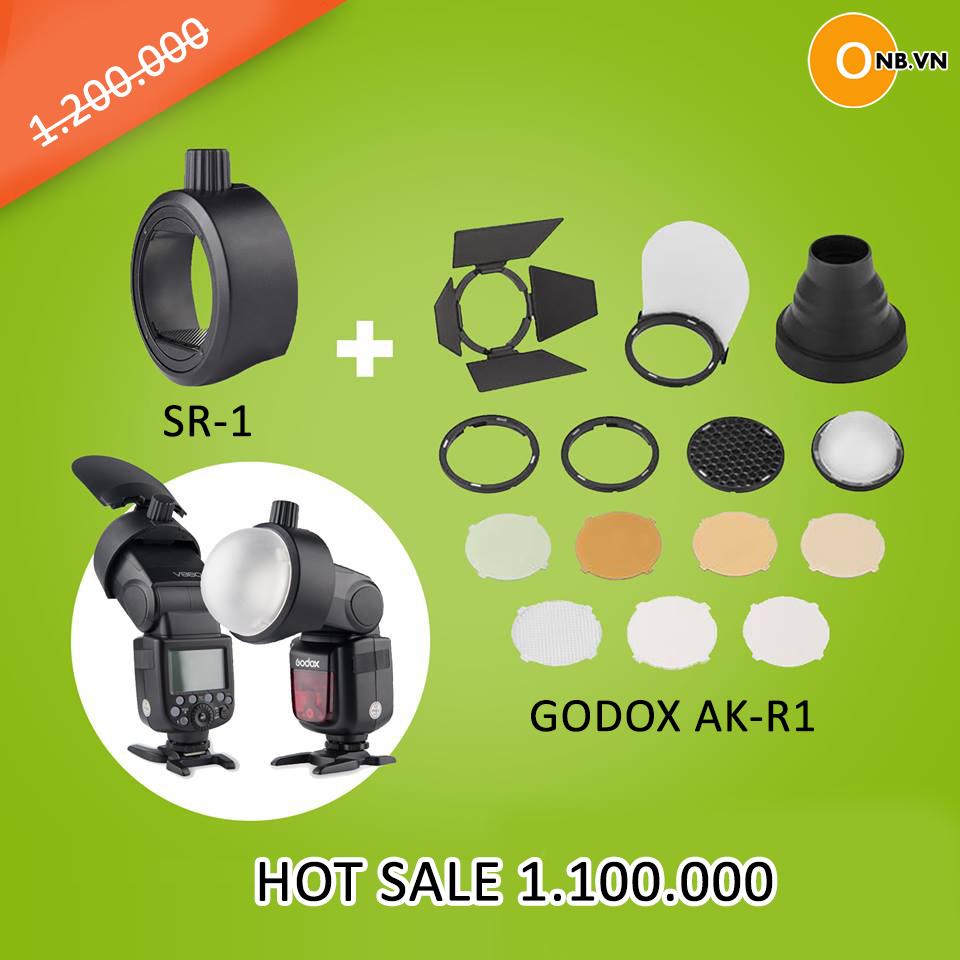 Flash sale bộ tản sáng Godox AK-R1 kèm ngàm chỉ còn 1.100.000