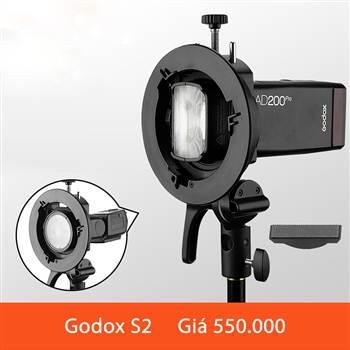 Godox S2 - Gá gắn dù đèn godox các loại ngàm Bowen mẫu mới 2020