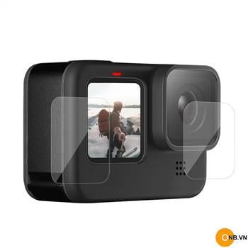 Gopro 9 Dán cường lực full lens, màn hình trước sau