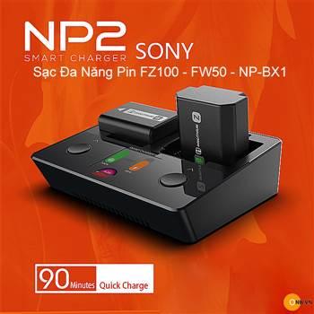 ISDT NP2 sạc nhanh đa năng Pin FZ100 - FW50 - NB-BX-1