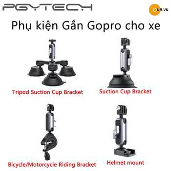 List phụ kiện PGYTECH dùng cho Gopro, Pocket gắn lên xe hơi, xe máy, xe đạp