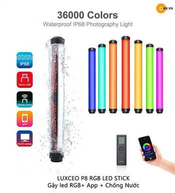 Luxceo P8 RGB Led Stick - Gậy Led Chỉnh Màu - App - Chống Nước