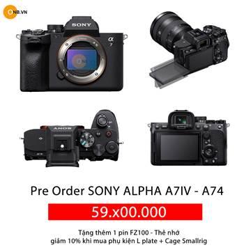 Máy Ảnh Sony Alpha A7IV - A74 - mới nhất 2022