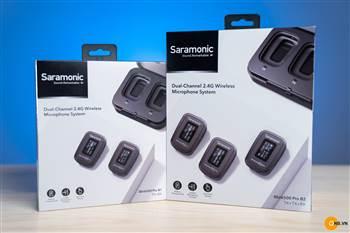 Mic không dây Saramonic B1 Pro, B2 Pro giá siêu tốt 2021