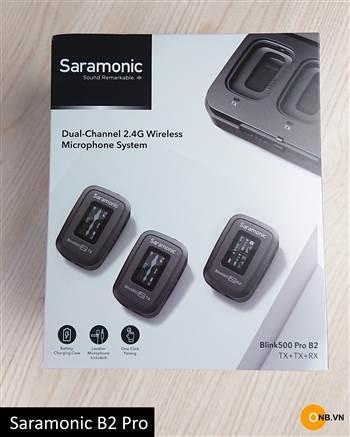 Mic thu âm không dây tốt nhất hiện nay Saramonic B2 Pro new 2021