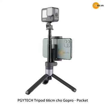 PGYTECH Tripod 66cm - Osmo Pocket 2, Gopro 9 có kẹp điện thoại